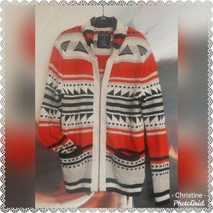 *American Eagle Zip Cardigan Sweater*